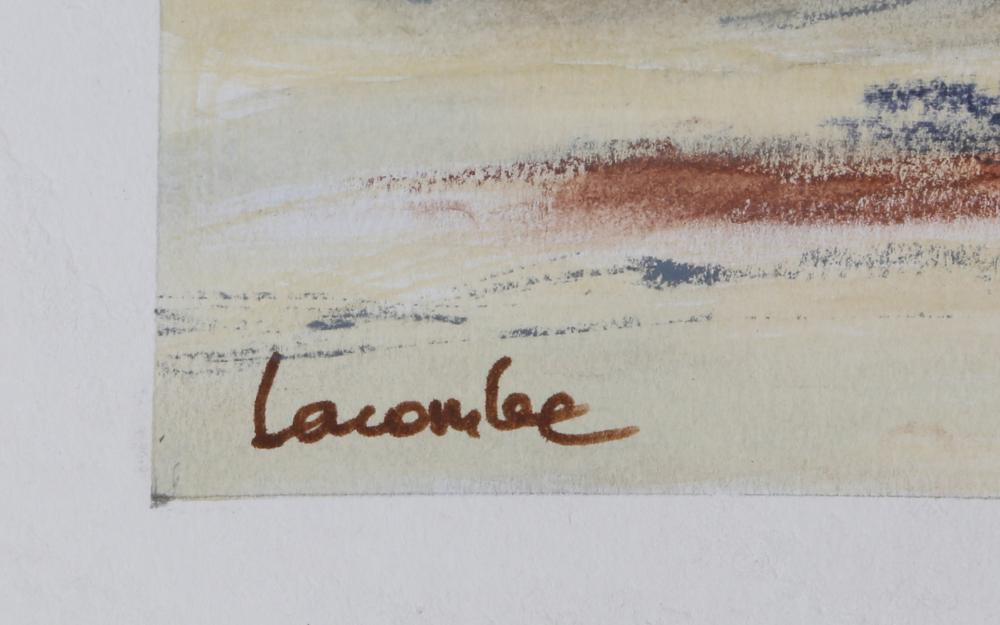 Lacombe, Sand Bar with Boats, Pastel and Watercolor Painting
