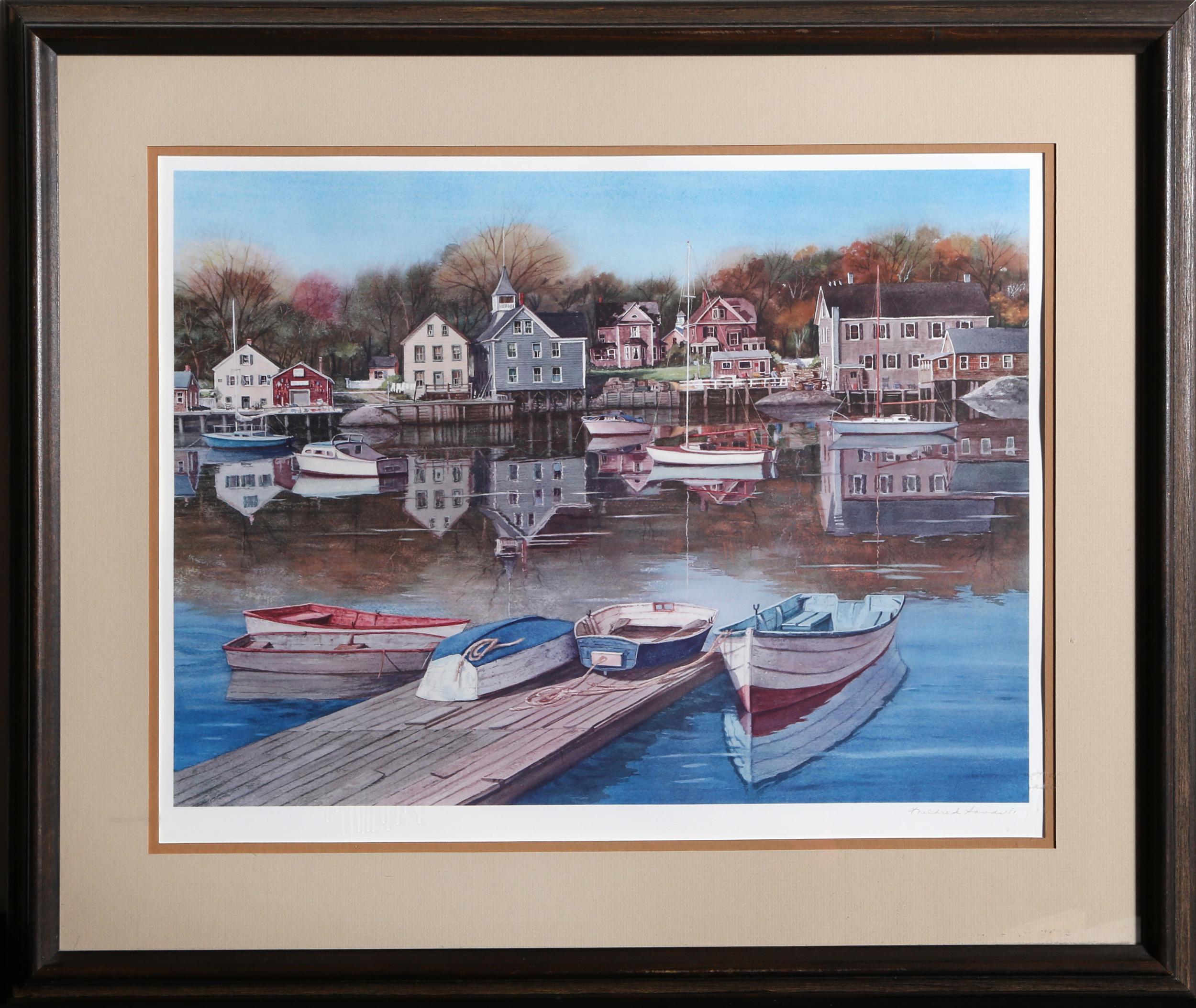 Mildred Sands Kratz, Ebb Tide at Kennebunkport, Lithograph