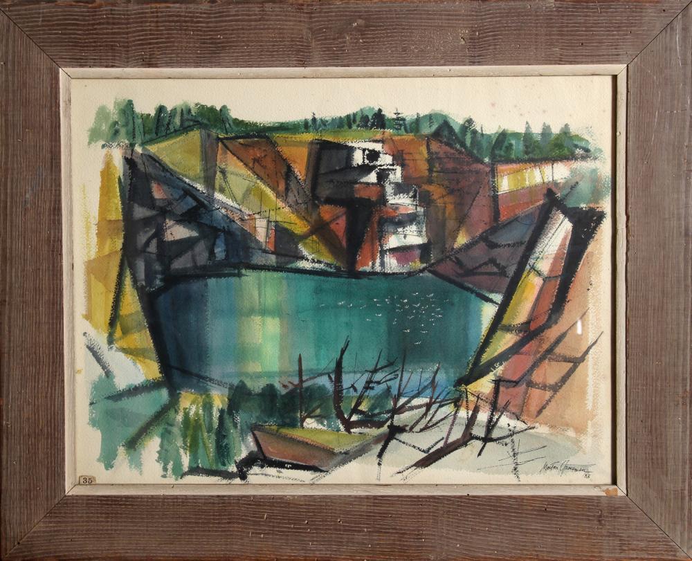 Morton Grossman, Quarry, Watercolor Painting