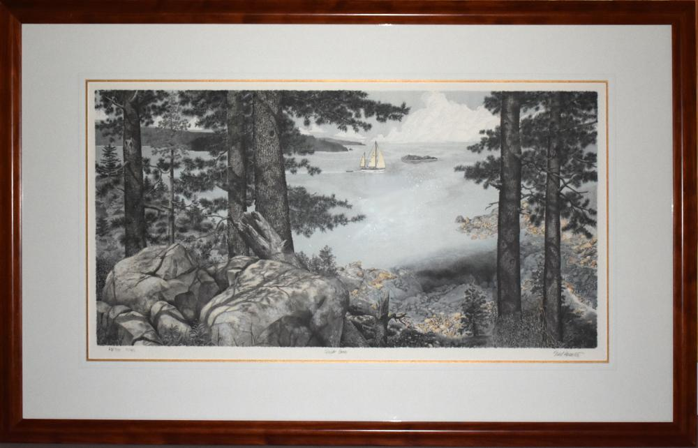 Mel Hunter, Quiet Cove, Lithograph