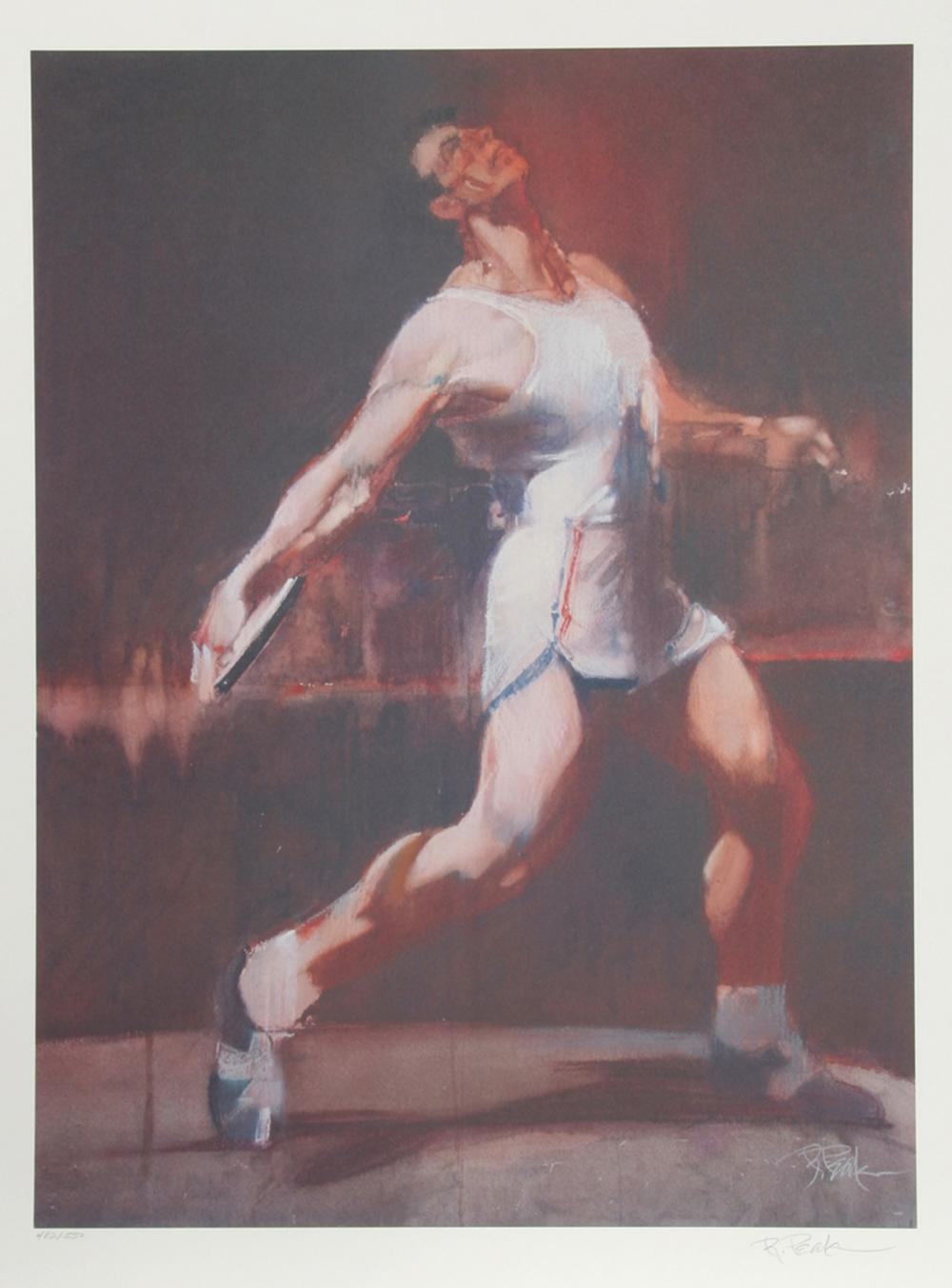Robert Peak, Discus Thrower from the Visions of Gold Olympic Portfolio, Lithograph