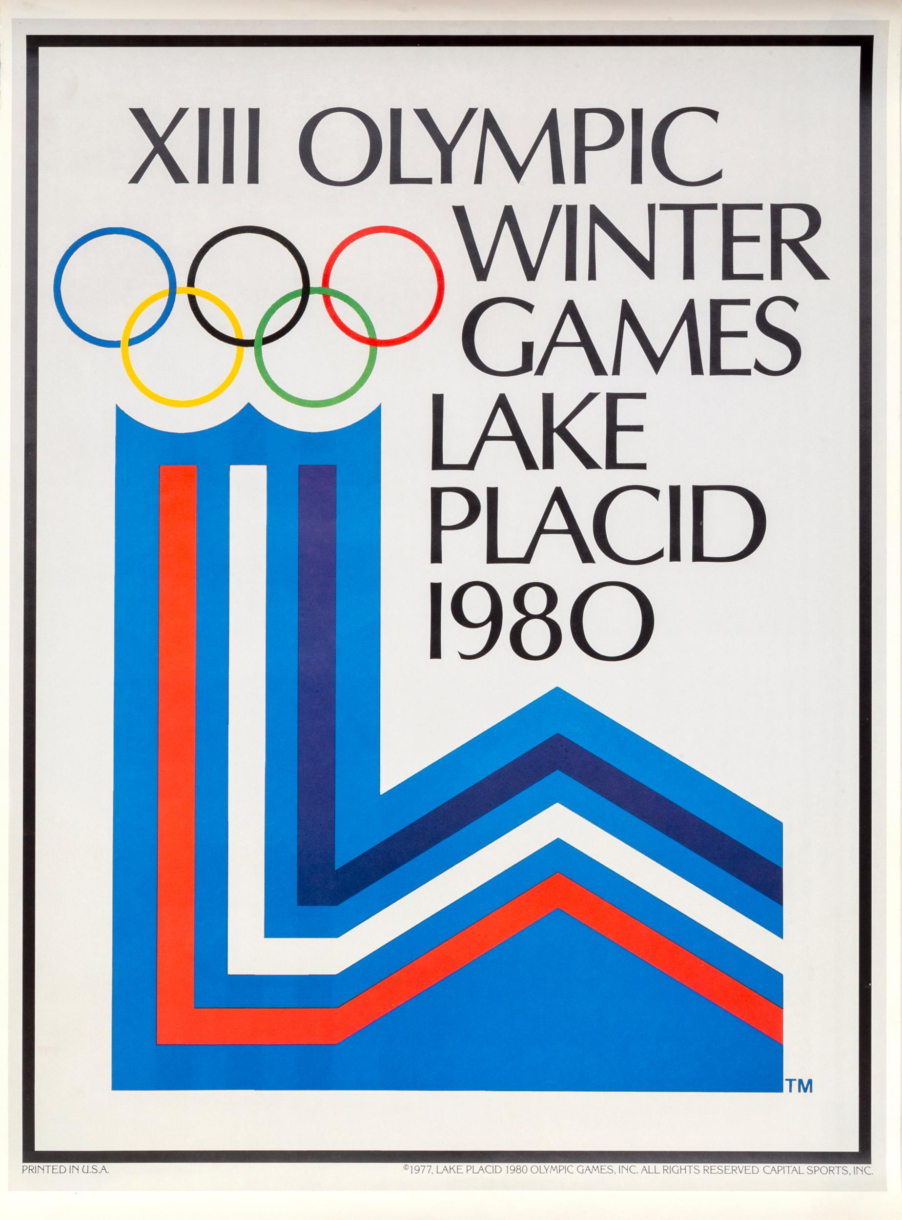 XIII Olympic Winter Games - Lake Placid, Offset Lithograph