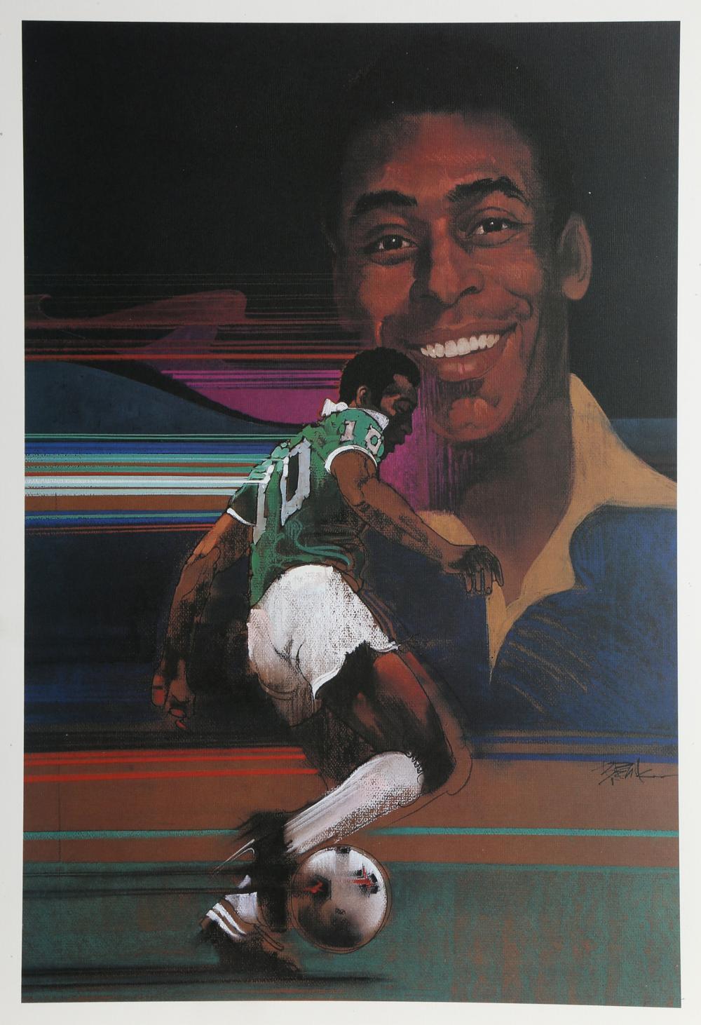Robert Peak, Pele from Sports Illustrated Living Legends Portfolio, Lithograph