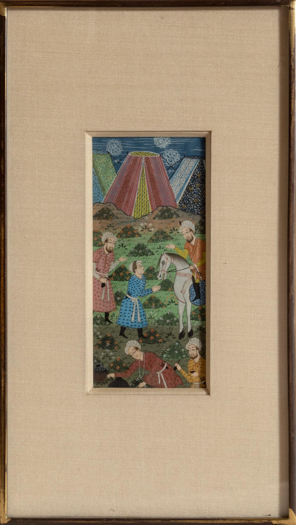 Indian, Fieldworkers, Goauche on Paper
