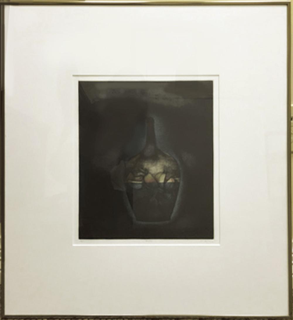 Tomoe Yokoi, Bottle, Mezzotint