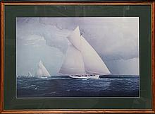 James Edward Buttersworth, Volunteer vs Thistle, Americas Cup Race, Poster