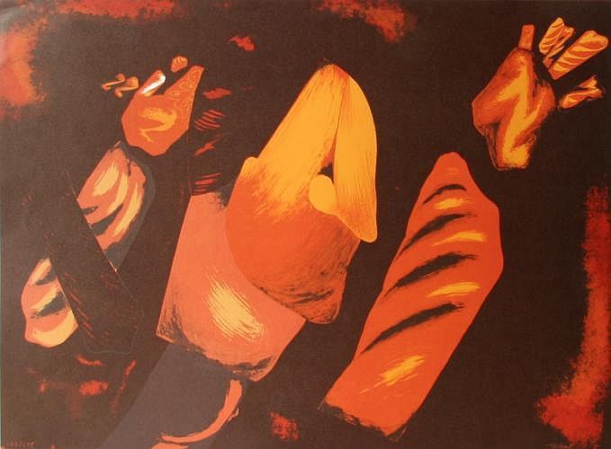 Mario Toral, Abstract 4, Lithograph