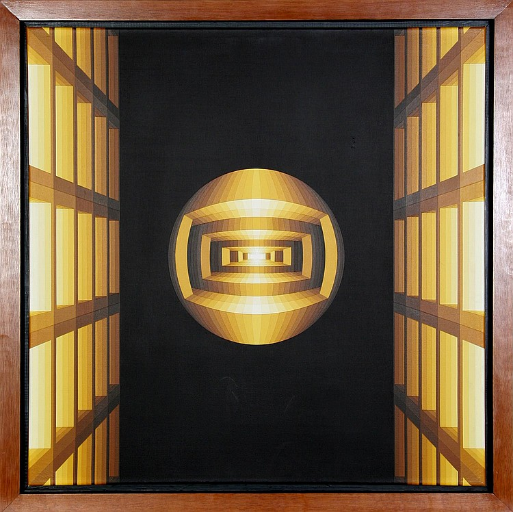 Enrique Careaga, Estructuras Espacio, Acrylic Painting