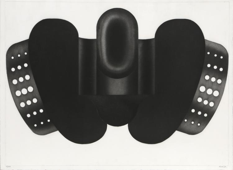 Christian Fossier, untitled 1, Aquatint Etching