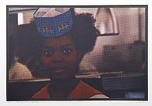 Larry Stark, II - Cashier Girl, One Culture Under God, Photo Screenprint