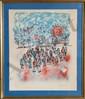 Yanni Posnakoff, School Children, Lithograph, Yanni Posnakoff, Click for value