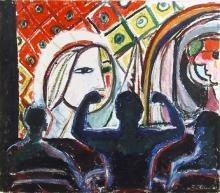 Biff Elrod, N.J. Picasso, Pastel Drawing