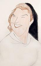 Julius Kroll, Grace Metalious (Peyton Place), Pastel and Charcoal Drawing