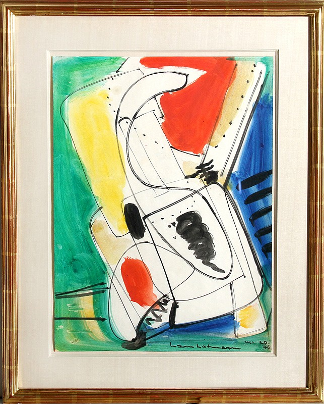 Hans Hofmann, Viticalite, Gouache and Watercolor Painting