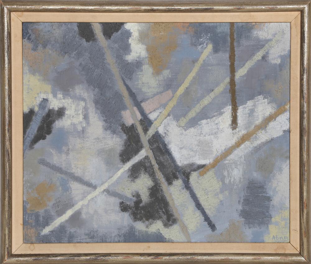 Raymond Abner, Espace en Gris, Oil Painting
