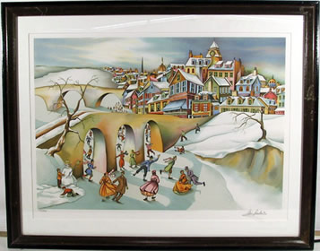 Ari Gradus, Winter Fantasy, Lithograph