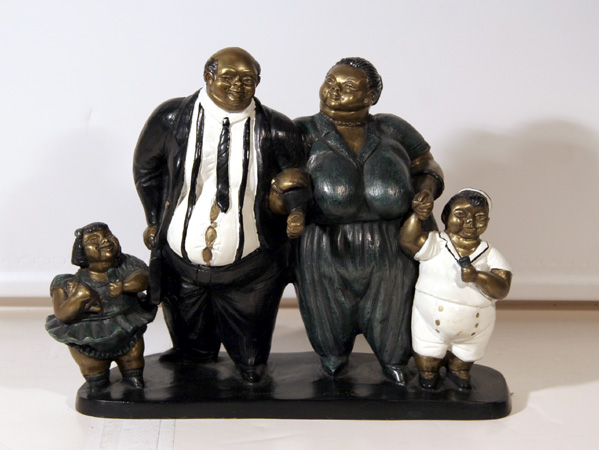 Bruno Luna, Familia Delgadillo, Bronze Sculpture