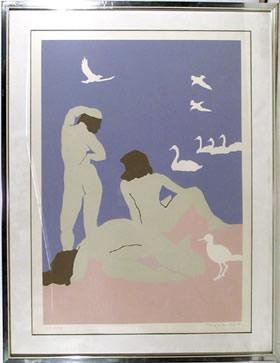 Daphne Mumford, Three Women, Serigraph