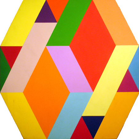 Arthur Boden, Geometric Optical Art Acrylic Painting