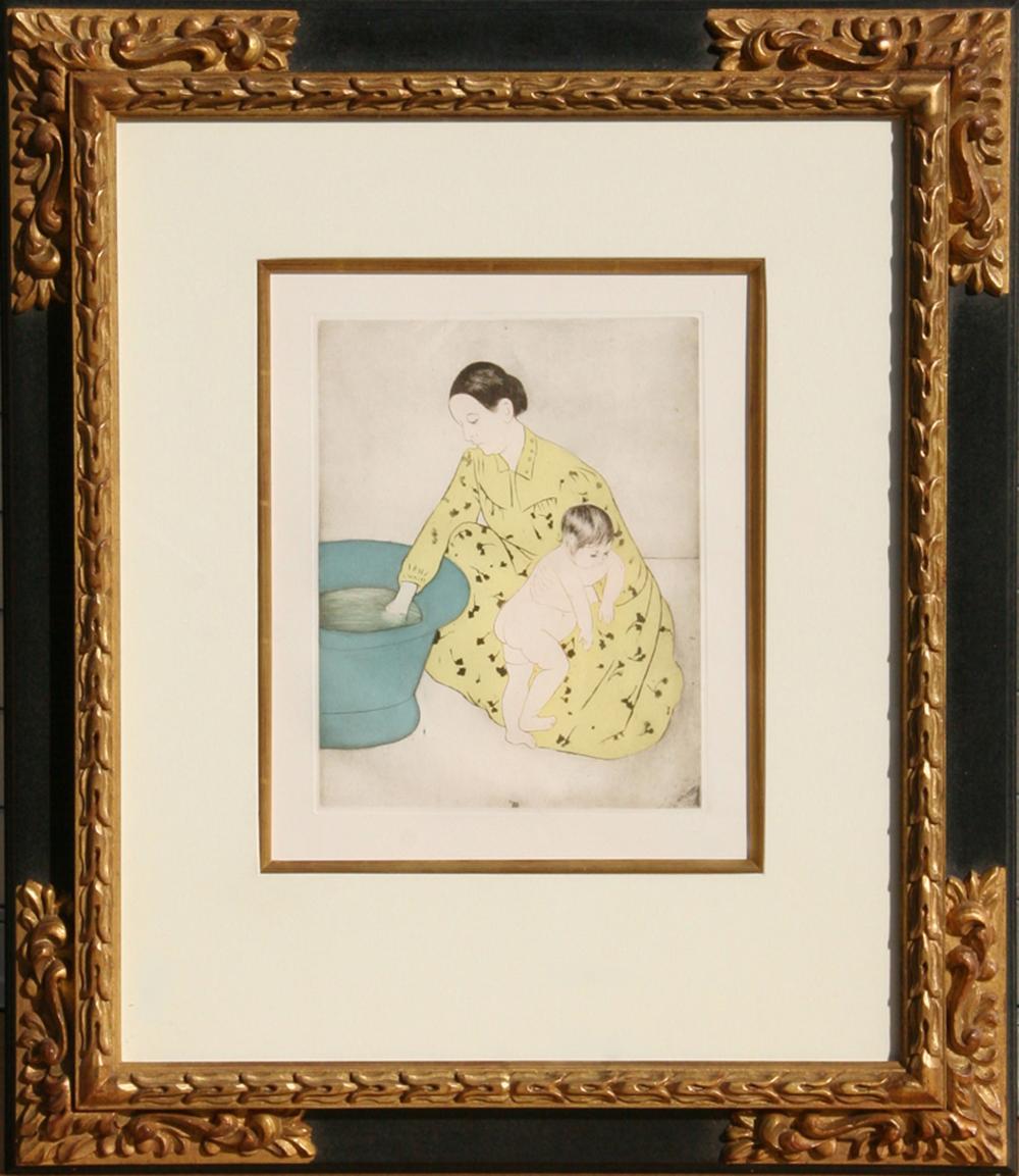 Mary Cassatt, The Bath, Soft Ground Etching and Aquatint