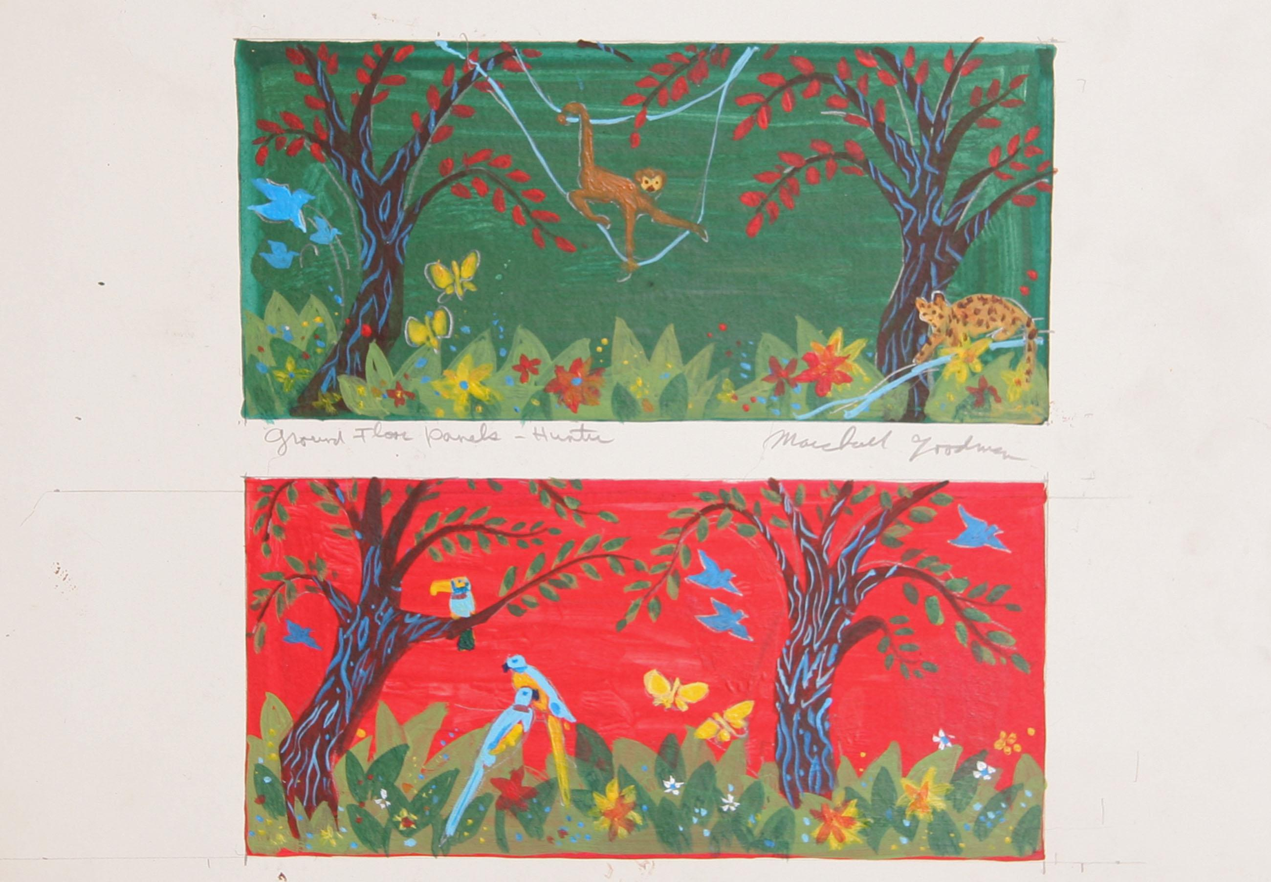Marshall Goodman, Rainforest Ground Floor Panels - Hunter, Acrylic Painting