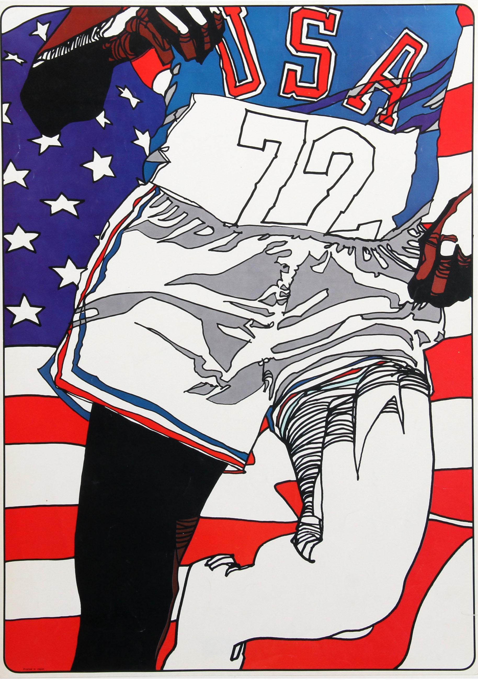 USA Runner '72, Marathon Olympics Poster