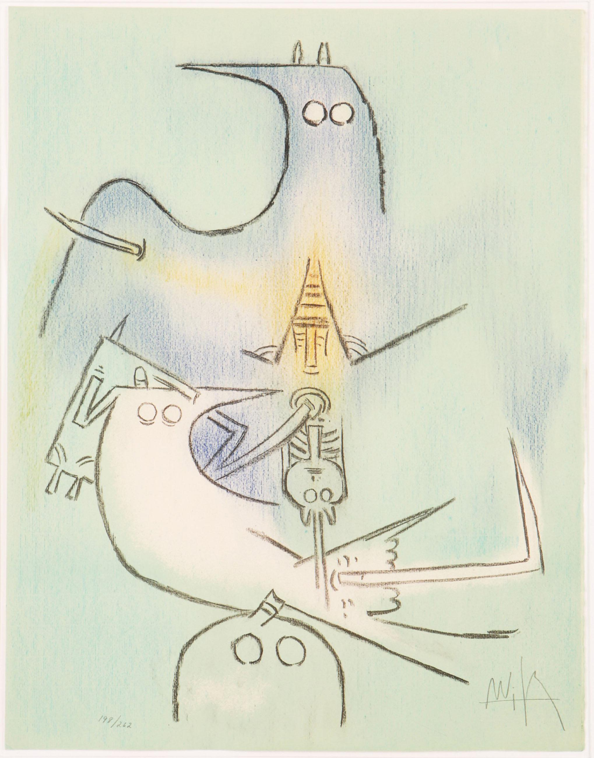 Wifredo Lam, Arbre de Plumes (Full Moon) from Pleni Luna Suite, Lithograph