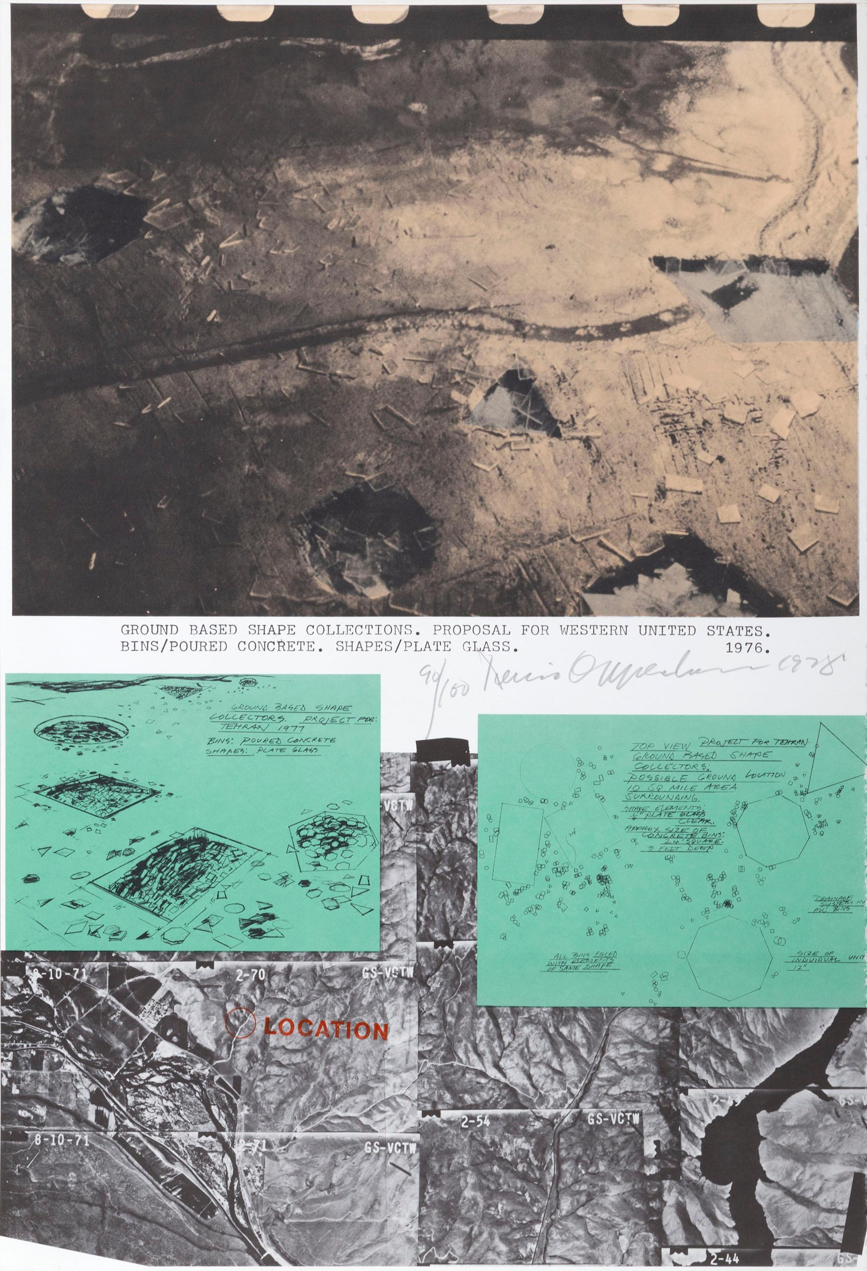 Dennis Oppenheim, Ground Based Shape Collections, Lithograph