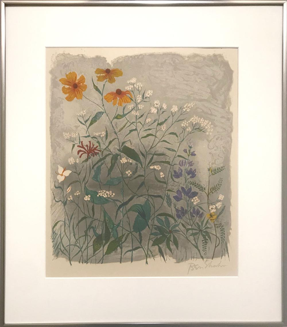 Ben Shahn, The Gestures of the Little Flowers, Lithograph
