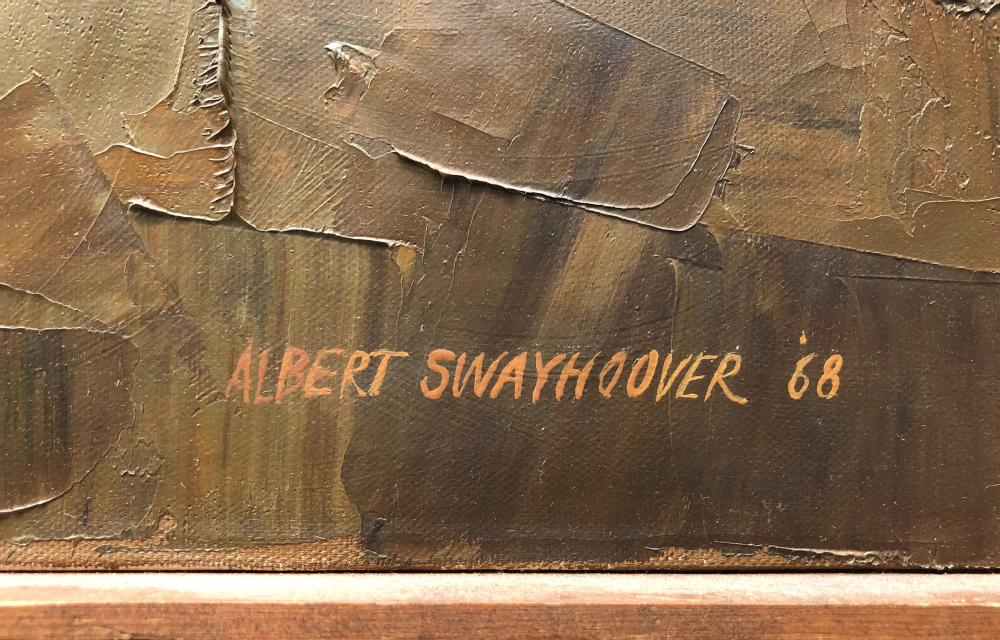 Albert Swayhoover, Dusk at Fleet Point, Oil Painting