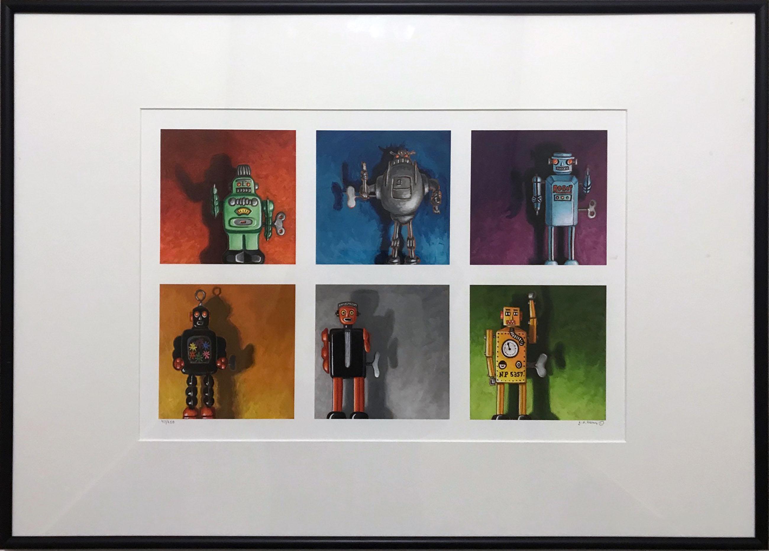 Geoffrey Aaron Harris, Wind-Up Robots, Digital Print