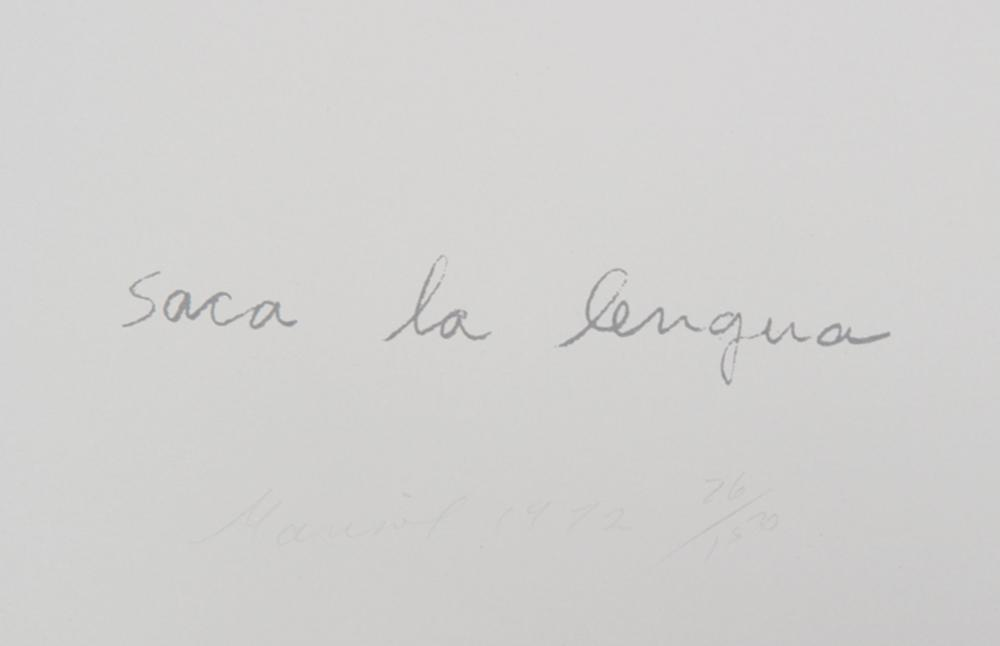 Marisol Escobar, Saca la Lengua, Lithograph