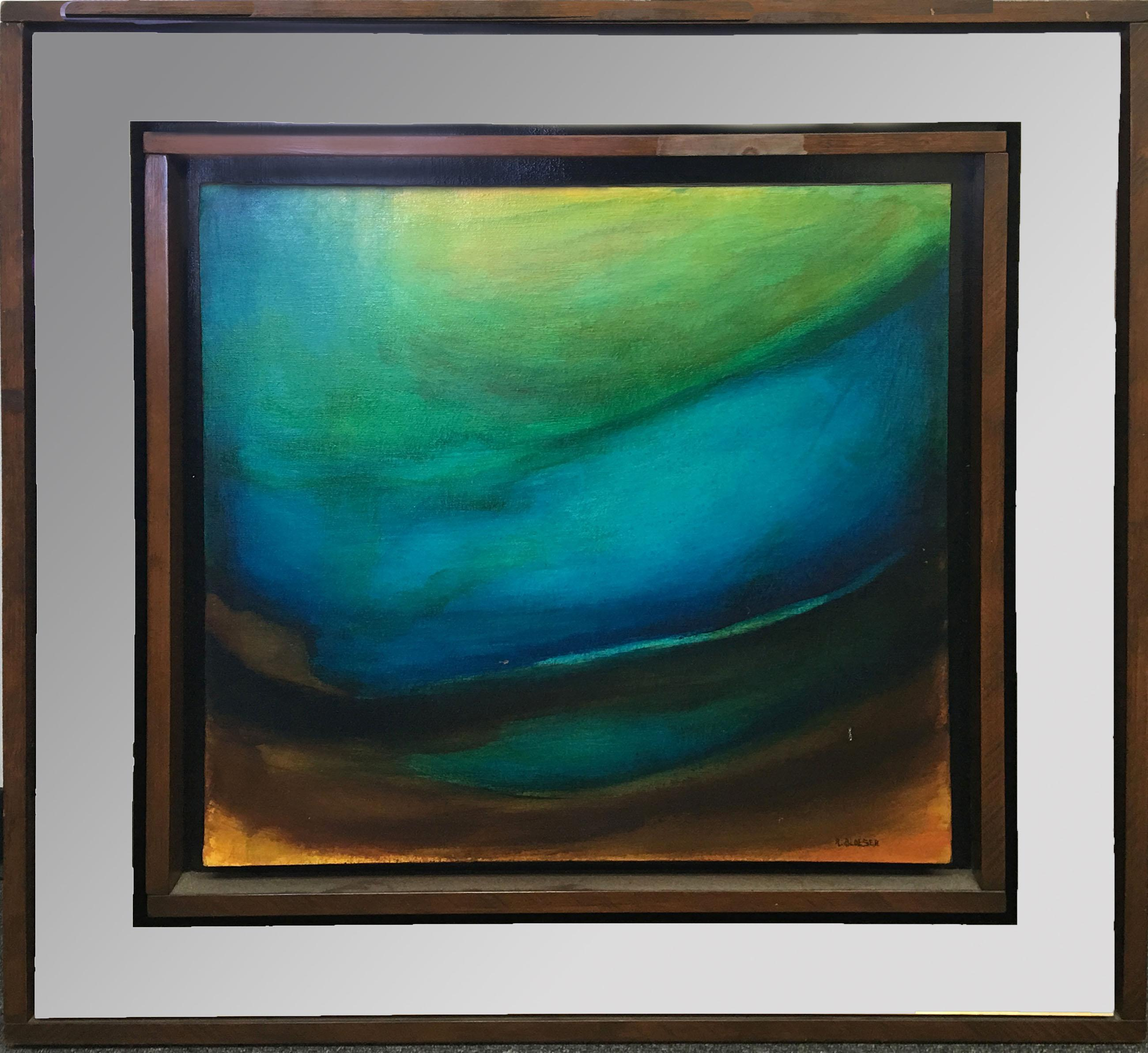 Robert Bloeser, Sea Mirror Abstract, Oil Painting