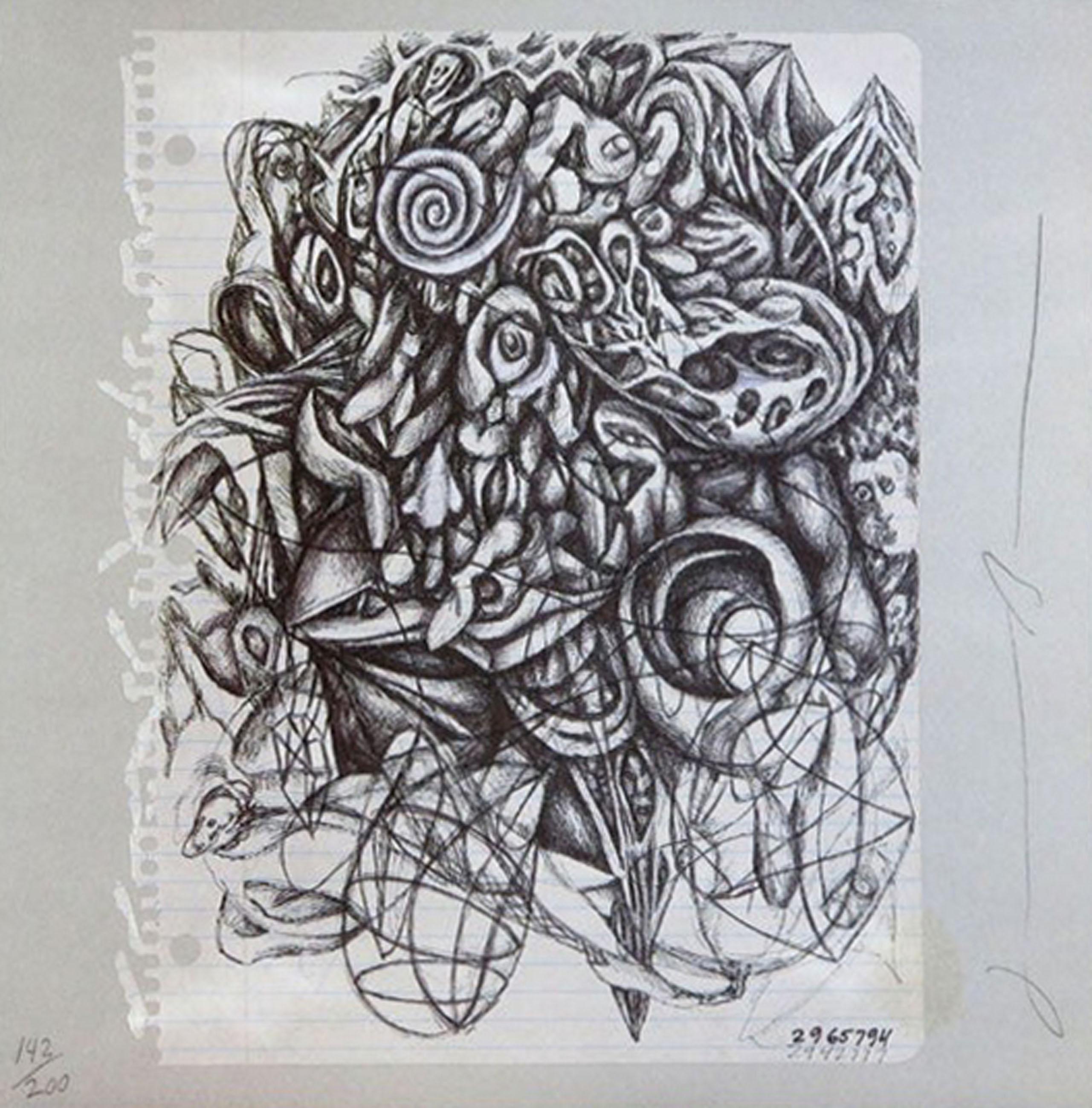 Jonathan Borofsky, Untitled, Offset Lithograph