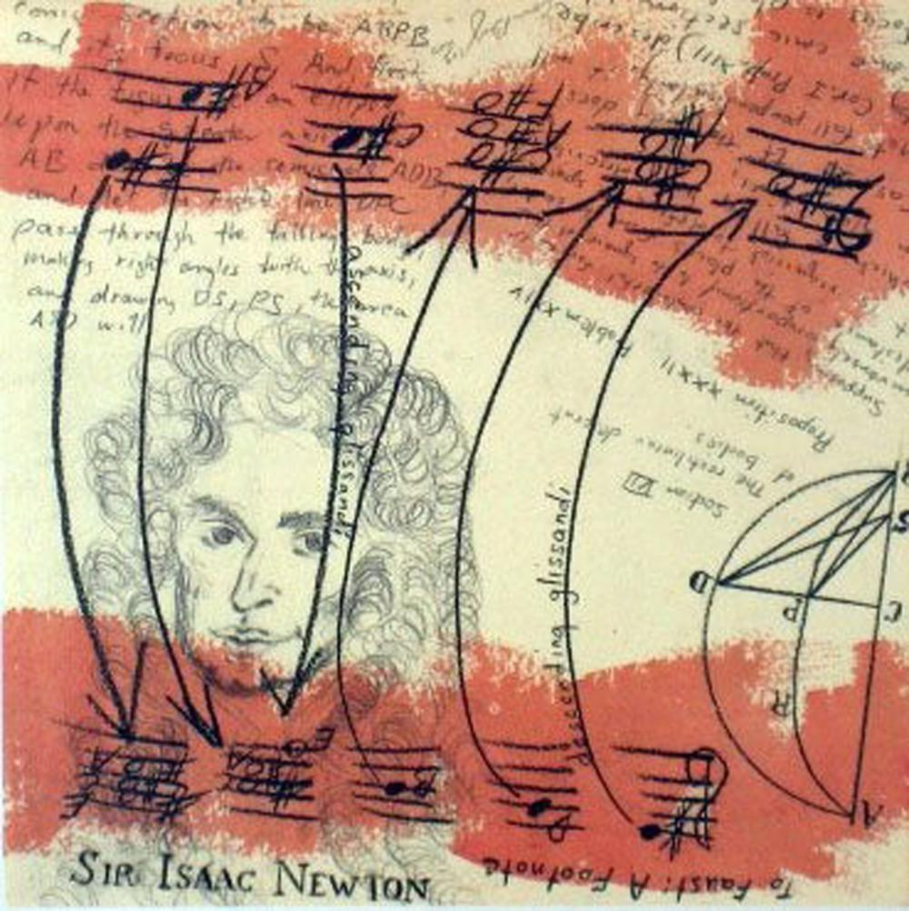 Connie Beckley, To Faust: A Footnote (Sir Isaac Newton), Offset Lithograph