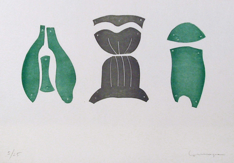 Pietro Consagra, Untitled II, Lead Print