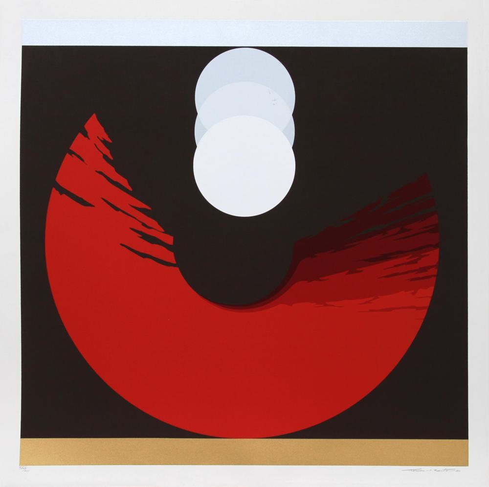 Thomas W. Benton, Evolution Series - Red, Silkscreen