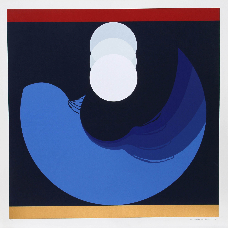 Thomas W. Benton, Evolution Series - Blue, Silkscreen