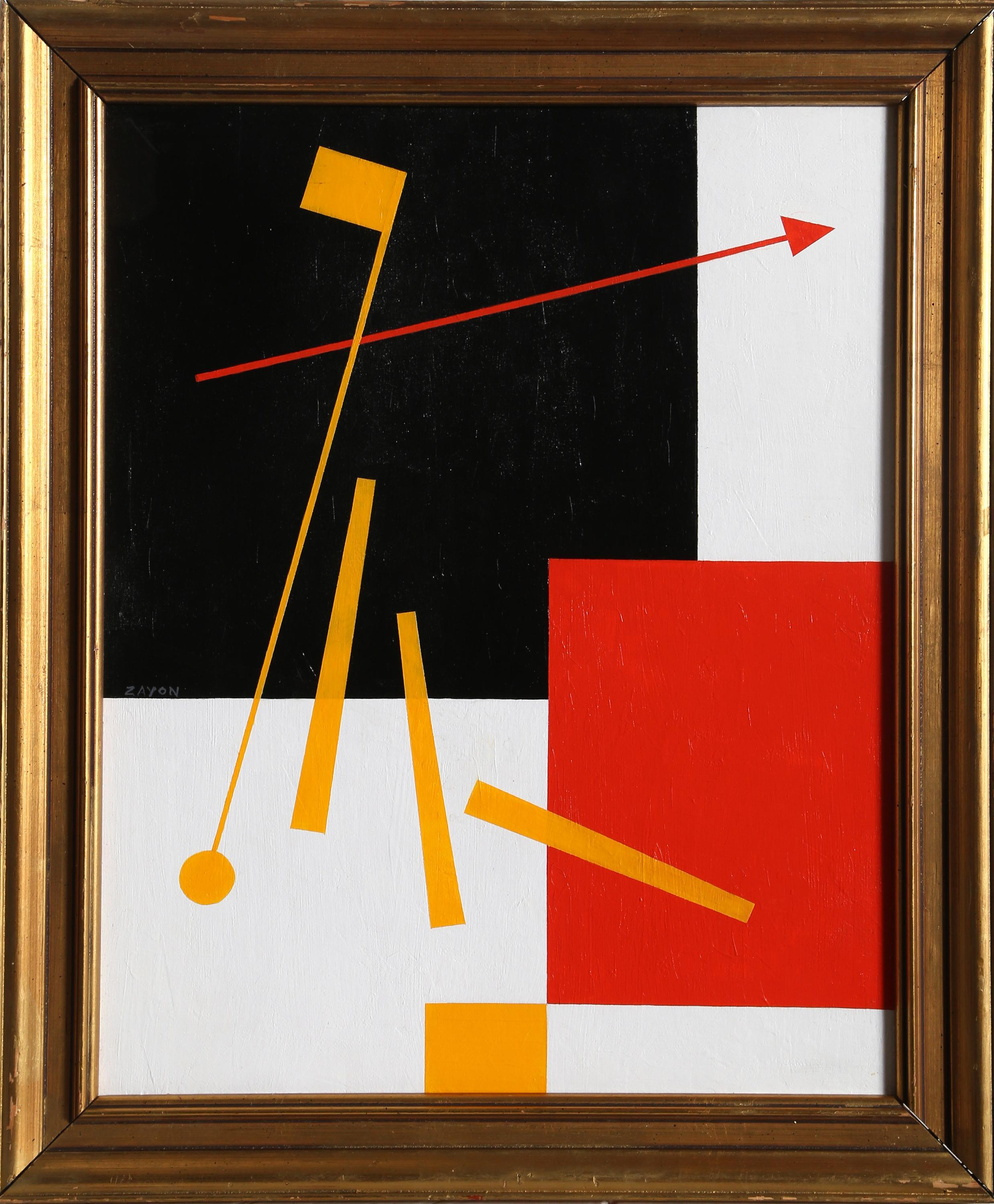 Seymour Zayon, Geometric Space Abstract (After Kandinsky), Oil Painting