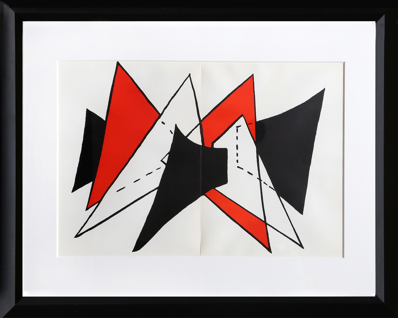 Alexander Calder, Study for Sculpture II from Derriere Le Miroir, Lithograph