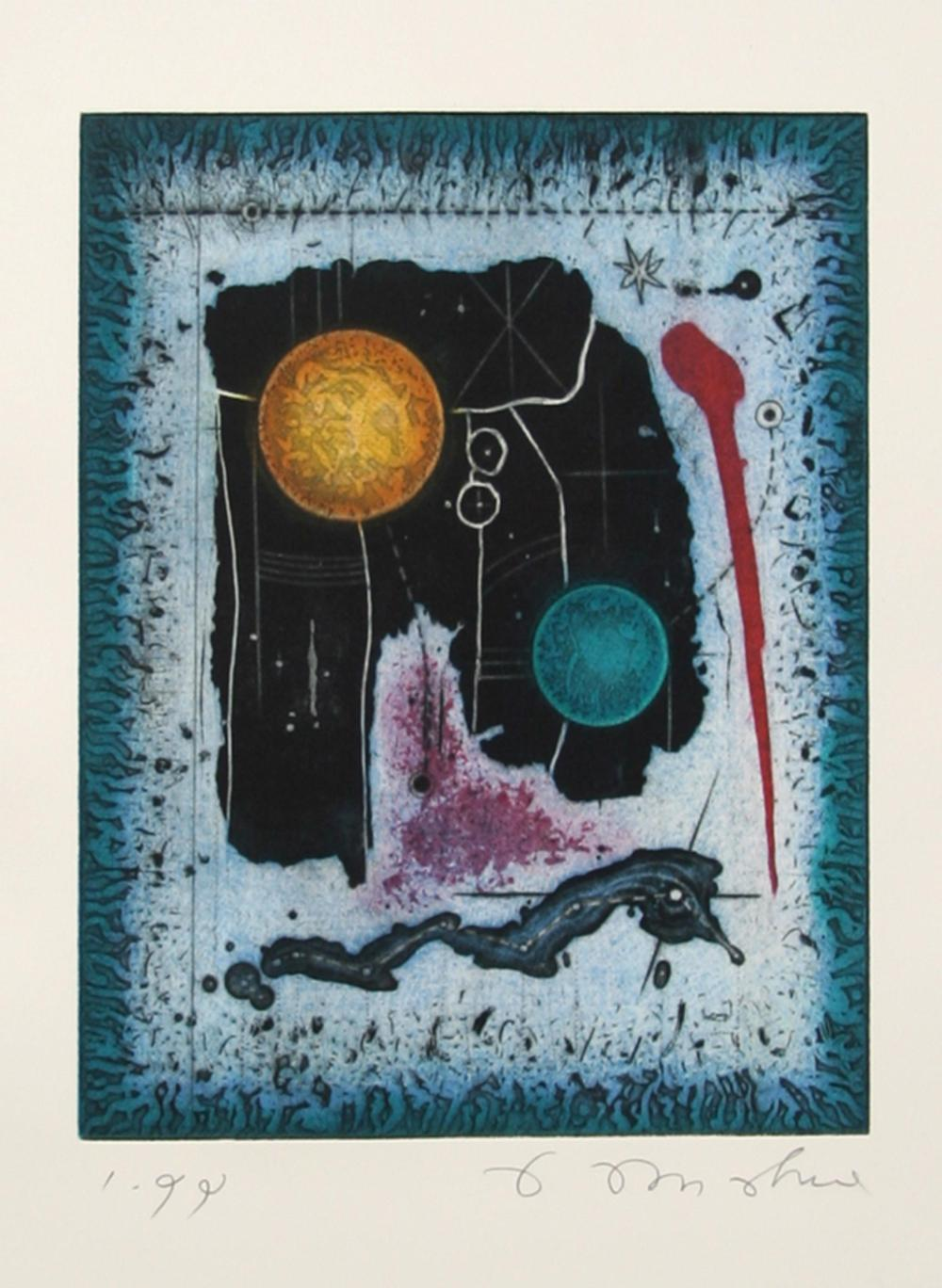 Tighe O'Donoghue, Planetary Abstract, Aquatint Etching