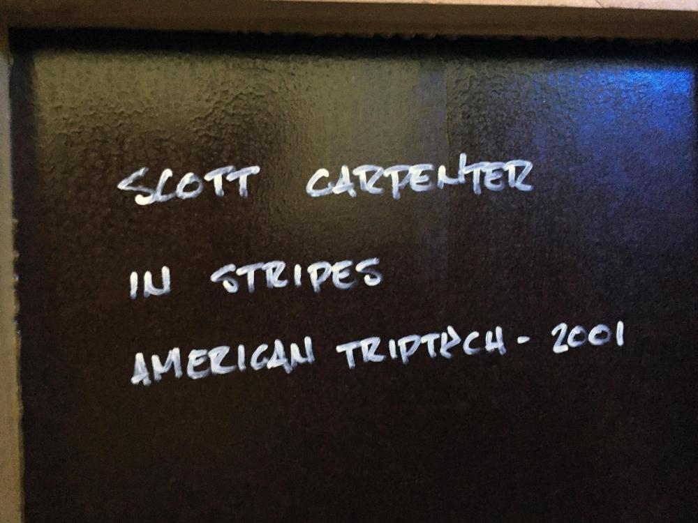 Scott Carpenter, In Stripes (American Triptych), Acrylic Painting on Shaped Wood