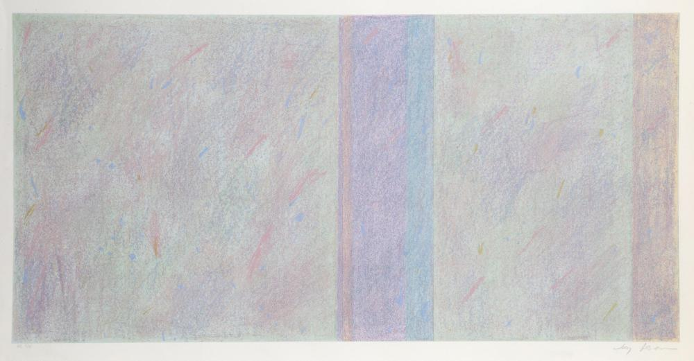 Jay Rosenblum, Untitled 2, Abstract Stripes Lithograph