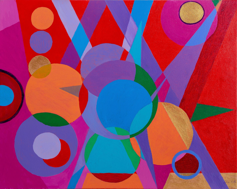 Sylvia Roth, Broadway Lights, Acrylic Painting