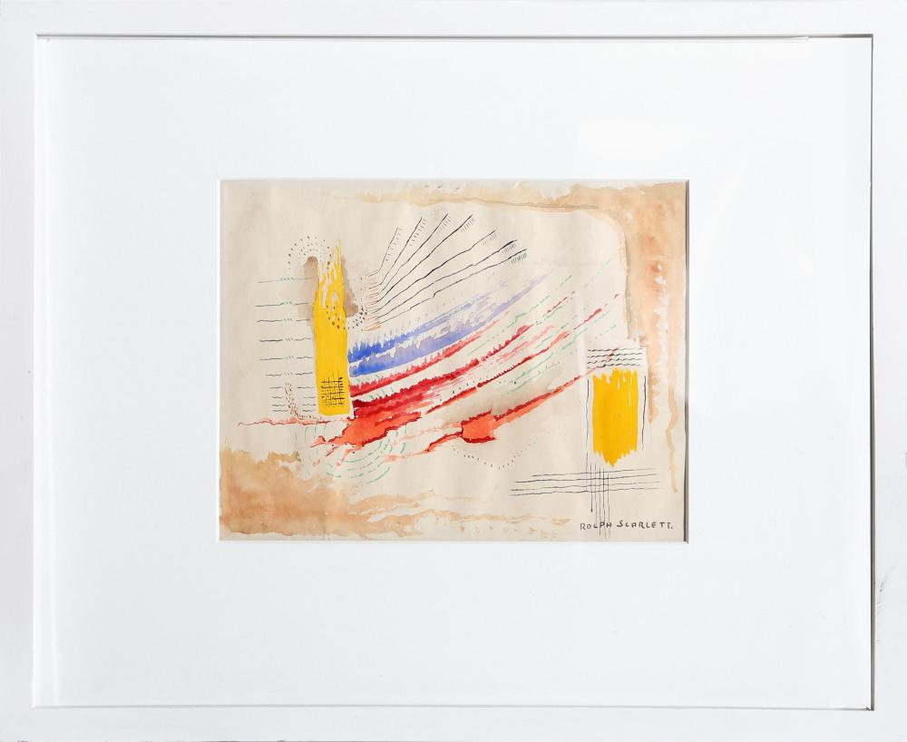 Rolph Scarlett, Primary Abstract, Watercolor Painting