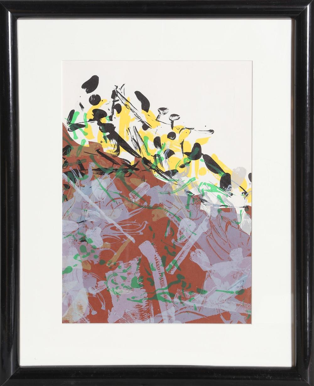 Jean-Paul Riopelle, Purple Abstract from Derriere le Miroir, Lithograph