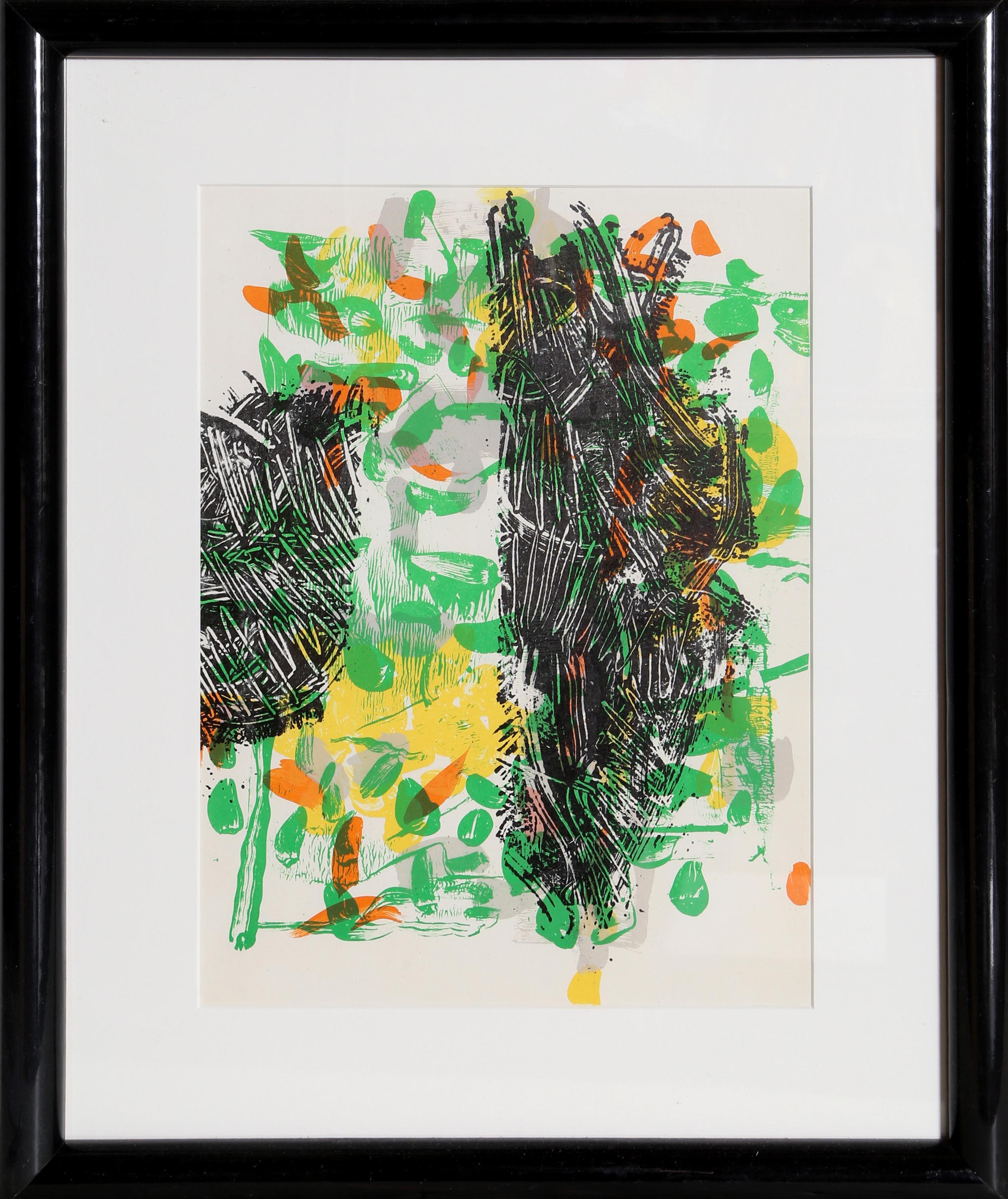 Jean-Paul Riopelle, Green Abstract from Derriere le Miroir, Lithograph