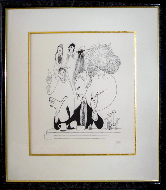 Al Hirschfeld, Johnny Carson, Lithograph