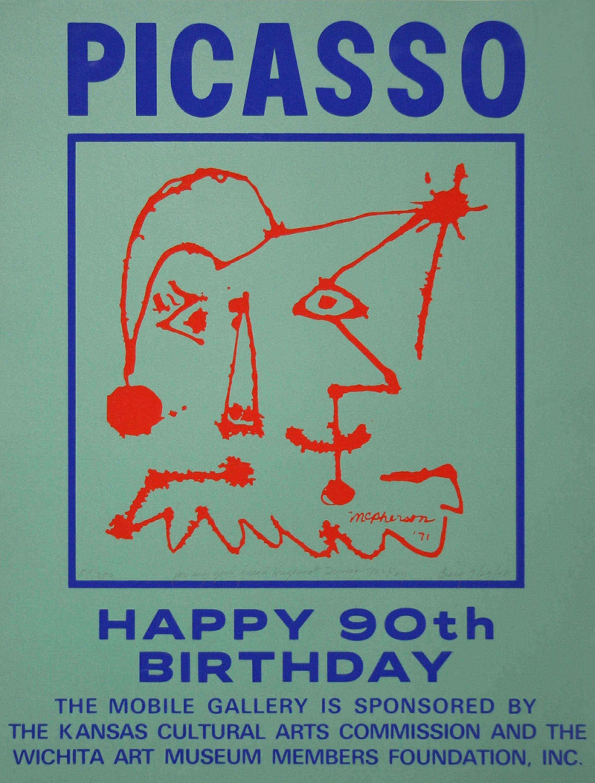 Craig McPherson, Picasso, Happy 90th Birthday, Screenprint
