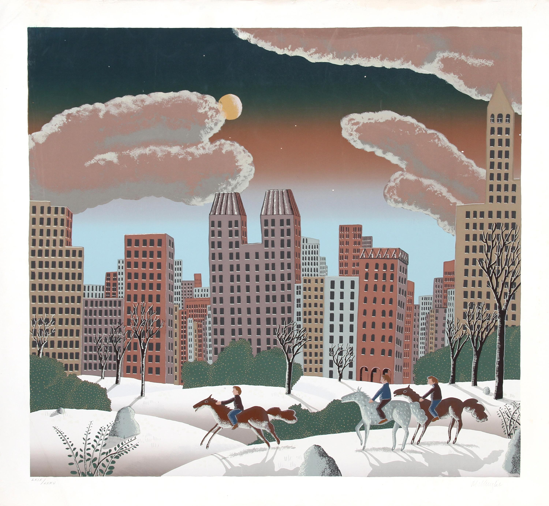 Thomas McKnight, Central Park II, Serigraph